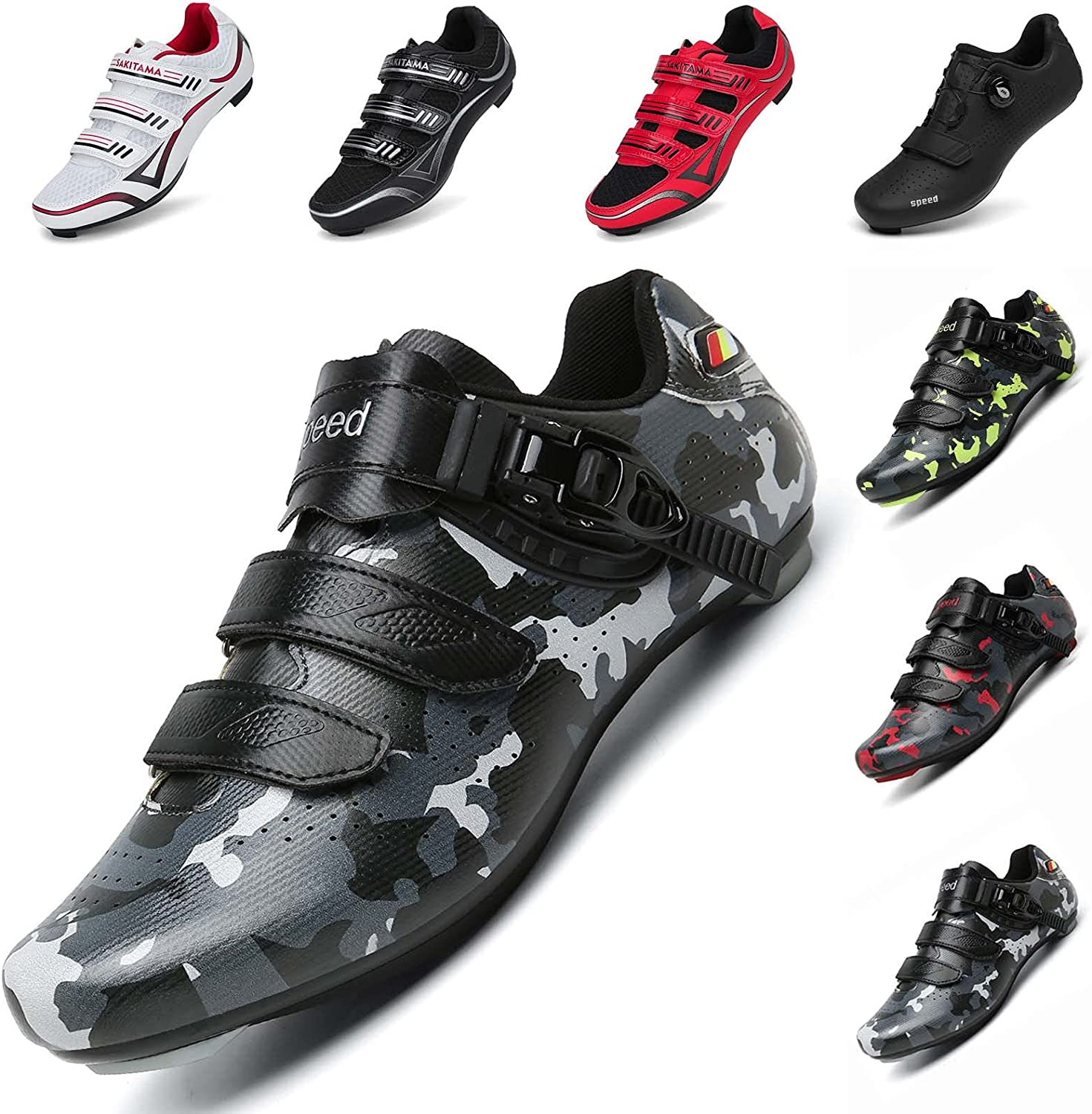 SAK1TAMA Unisex Inventory cleanup selling sale Bicycle Men's Women's - At the price Cycling Shoes Riding Spi