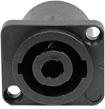 Seismic Audio SAPT240 4 Pole SpeakOn Panel Mount Connector and Fits Series D Pattern Holes Pro Audio, Black