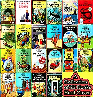 ADVENTURES OF TINTIN. Complete Set. 22 Vols. English Hardcover Versions
