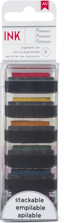 American Crafts Primaries AC Ink 6PK Regular Mail order store Pads Mini