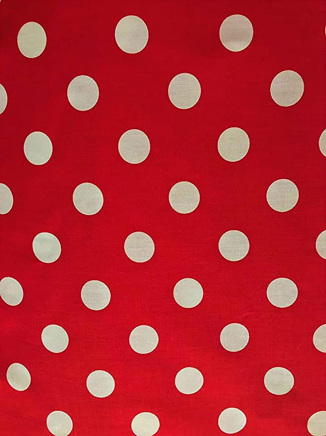 """POLKA DOT fabric colorful dots on white 60/"""" wide crepe Sold by the 1//2 YARD"""