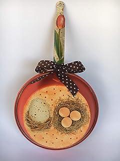sartén decorativa para la cocina con adorno de nidos
