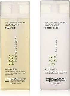 GIOVANNI COSMETICS - Eco Chic Tea Tree Triple Treat - Invigorating Shampoo & Conditioner Set (8.5 Ounce)