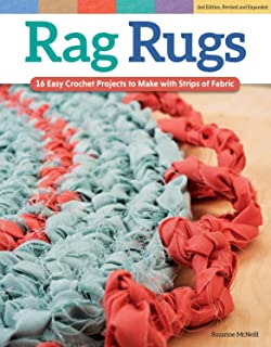 Rag Rugs, 2nd Edition, Revised and Expanded: 16 Easy Crochet Projects to Make with Strips of Fabric (Design Originals) Beg...