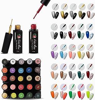 Full Set of 25 Colors VidaRosa Gel Nail Liner Polish UV LED Painting Gel Polish for 3D Nail Art DIY Nail Design Nail Line ...