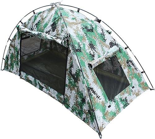 SXY888 Camping Tente Pop-up Tente Imperméable Extérieure Camouflage Prougeection UV pour Camping Randonnée 200  100  100 Cm Une Personne
