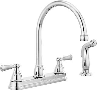 Peerless P2865LF Elmhurst Two-Handle Kitchen Faucet with Spray Deck-Mount, Chrome