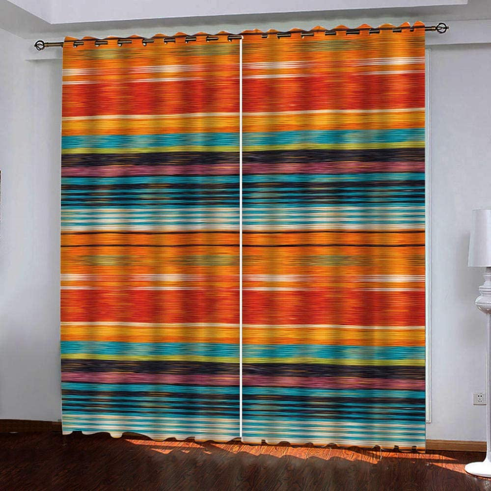 Thermal Blackout Curtain Retro Pattern 85 2 of Inches Set 2021 spring and summer Max 83% OFF new Long