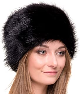 Russian Faux Fur Hat for Women - Like Real Fur - Comfy Cossack Style