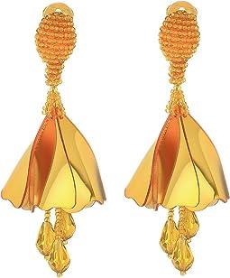 Oscar de la Renta - Small Impatiens C Earrings