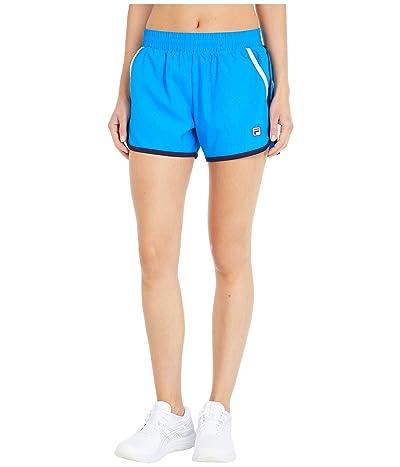Fila Heritage Tennis Shorts (Electric Blue/Navy/White) Women