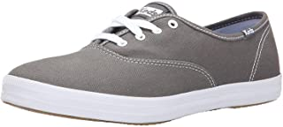Keds womens Champion Canvas Sneaker, Graphite, 9.5 Wide US