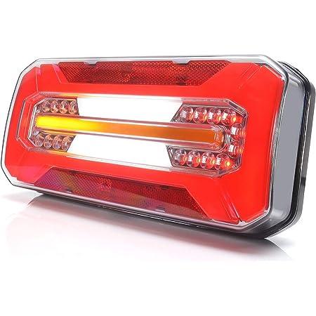 Led Rückleuchte Lkw Pkw Anhänger 6 Funktionen Mit Dynamischer Blinkleuchte L R 12v 24v 1298dd Auto