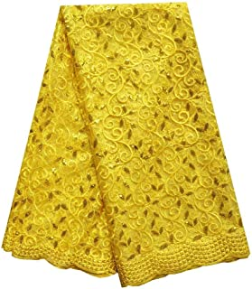 Best yellow lace fabric by the yard Reviews