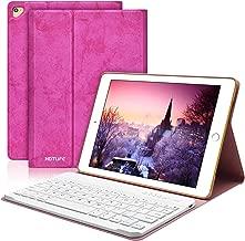 TOPLIFE iPad 9.7 Keyboard Case for iPad New 2018 6th Gen/iPad Pro 2017/iPad Air 2/iPad Air, Slim Cover, Smart Auto Sleep-Wake, Magnetic Leather Shell for iPad 9.7 inch (Rose Red)