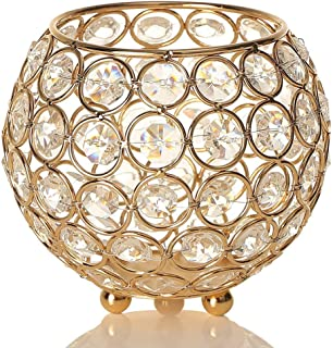 VINCIGANT Gold Bowl Votive Candle Holders/Decorative Candle Lantern for Home Office Wedding Coffee Table Centerpiece Decor