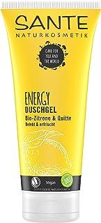 Sante Naturkosmetik Energy żel pod prysznic, świeży zapach cytryny, ożywia ciało i zmysy, chroni przed wysychaniem, wegańs...