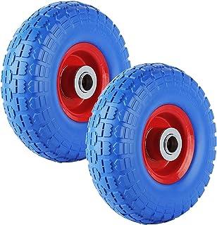 comprar comparacion Forever Speed 2X Rueda de goma Neumático de goma maciza Neumático de carretilla, capacidad 80 kg Ø260mm / 3.50-4, ancho ne...