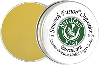 Nutricare Plus BurniCare Eczema, Psoriasis Herbal Vegan Salve - Balm 1 Ounce Tin, Rosacea, Shingles, 15 Non...