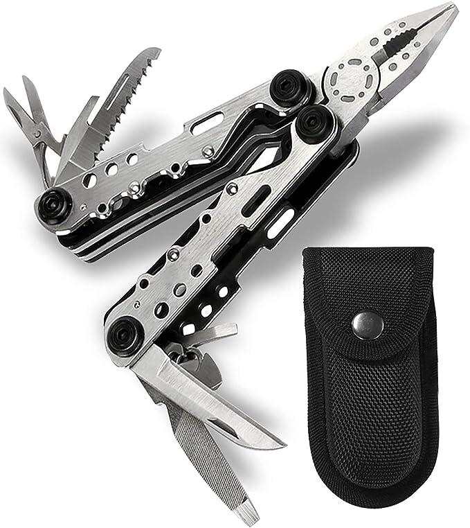 821 opinioni per Banne- Strumento portatile multiuso 10-in-1, in acciaio inox, con pinza,