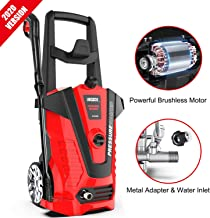 irozce Pressure Washers 2610PSI 1.85GPM Max Electric Power Washer with Metal Adapter,..