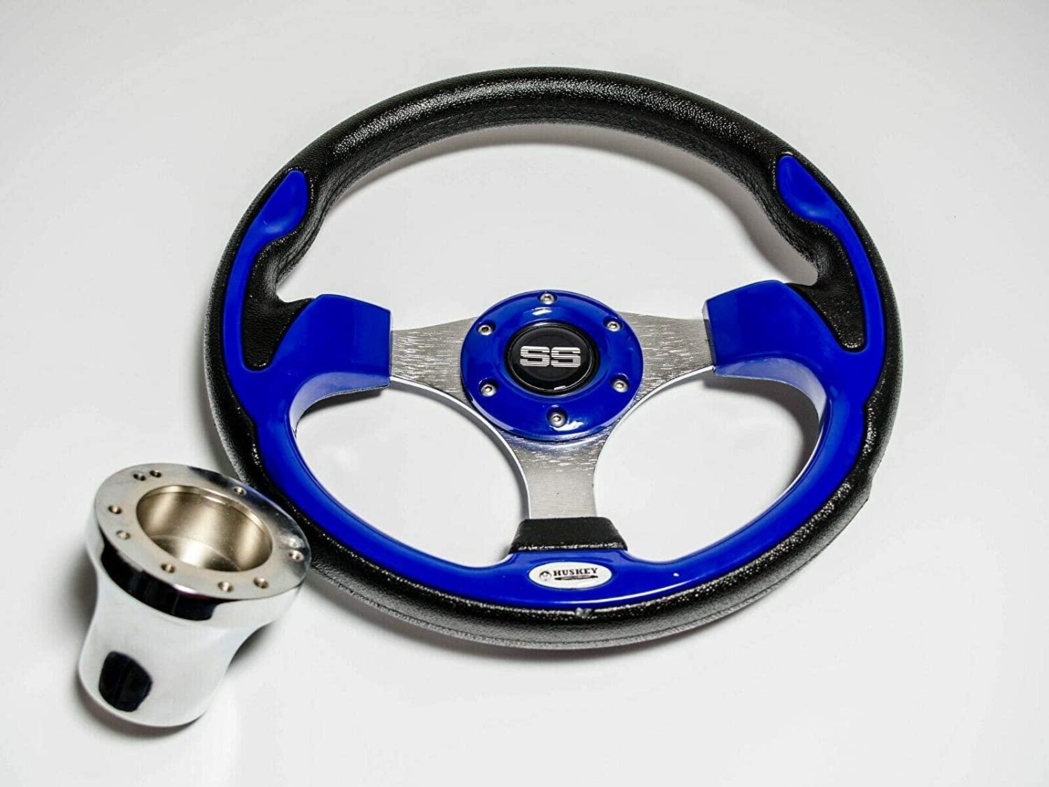 Huskey 12.5 All items free shipping Inch Classic Cobalt Blue wi Cart Steering Wheel Golf Detroit Mall
