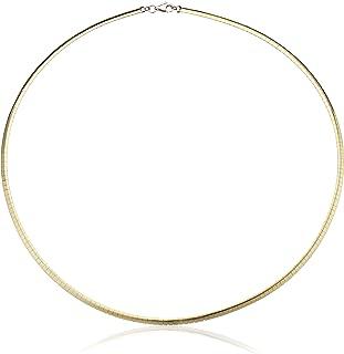 14k Gold-Bonded Reversible Omega Chain Necklace