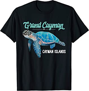Grand Cayman Islands Turtle Tuna Stingray Blue Souvenir Gift T-Shirt