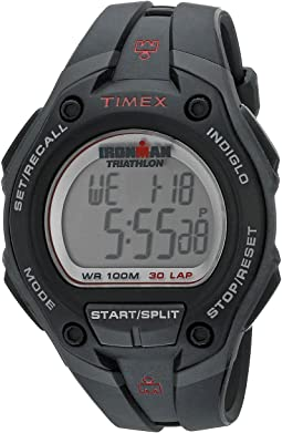 Timex - IRONMAN® 30-Lap Mega Silver w/Black Resin Strap Sports Watch
