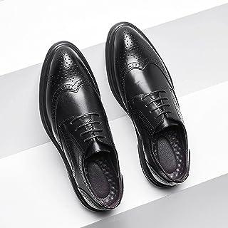 N\C Zapatos de los hombres, Zapatos de cuero tallado, Zapatos de cuero de moda con cordones de los hombres
