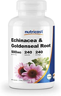 Nutricost Echinacea & Goldenseal Root, 500mg, 240 Capsules - Veggie Caps, Non GMO, Gluten Free