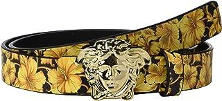 Versace Kids Boy's Reversible Medusa Belt (Big Kids) Black/Gold L 12