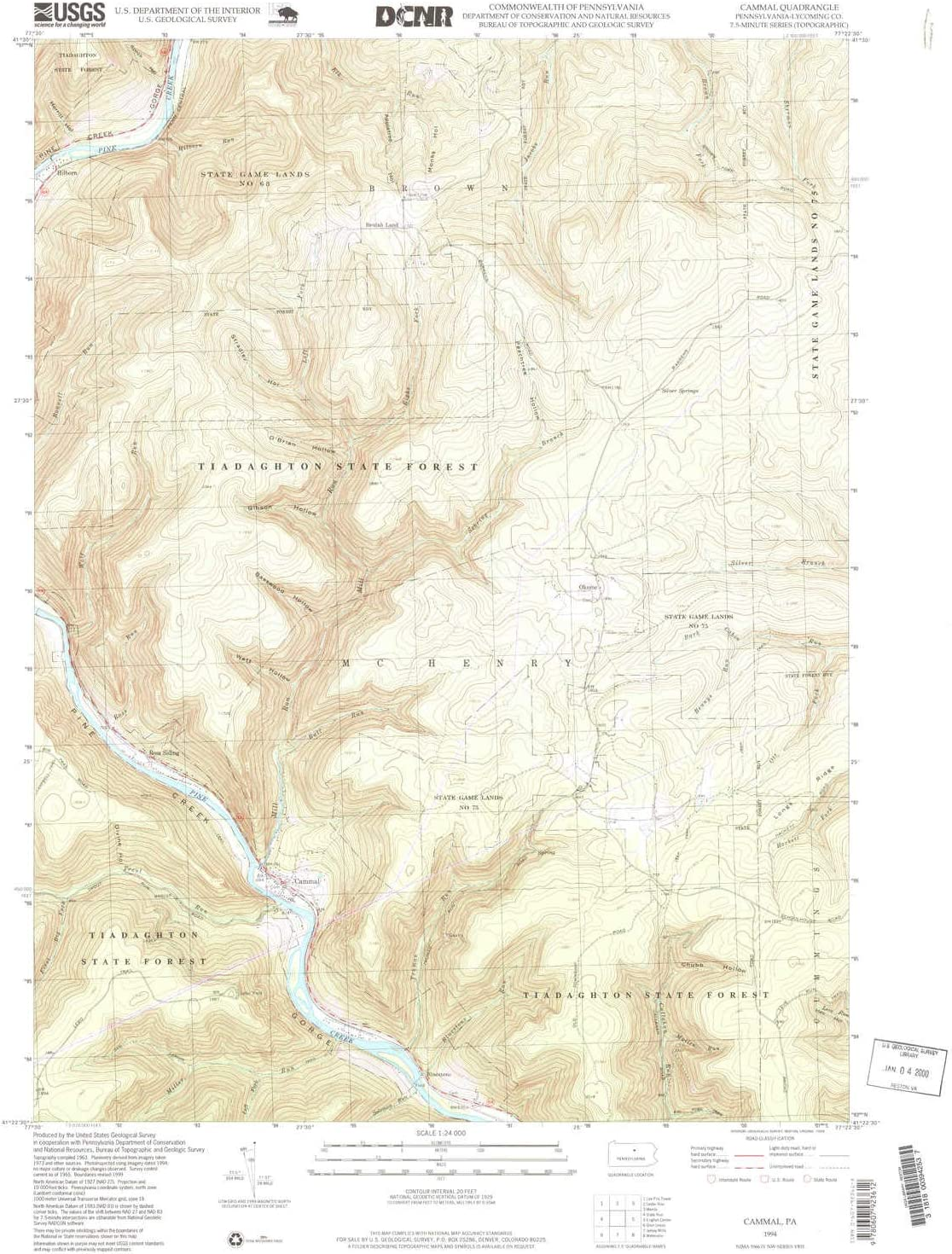 YellowMaps セール特価 Cammal PA topo 祝日 map 7.5 X 1:24000 Minute Scale