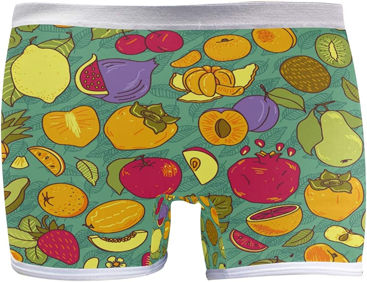 SLHFPX Womens Underwear Boxer Briefs Lemon Pe Fruits San Antonio Mall Pomegranate Sale special price