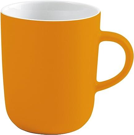Preisvergleich für Kahla Pronto Colore Becher, Kaffeebecher, Tasse, Henkelbecher, Porzellan, Orange-Gelb, 350 ml, 575335A72767C