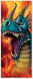 Beistle Dragon Door Cover | Asian & Dragon Birthday Party, Chinese New Year Decoration (3-Pack)