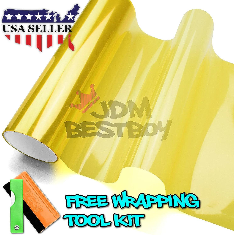 Automotive Headlight Assemblies & Parts 1FT x 6FT Glossy Golden ...