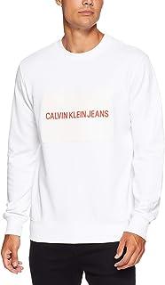 CALVIN KLEIN Jeans Men's Institutional Rubber Box Crew Neck
