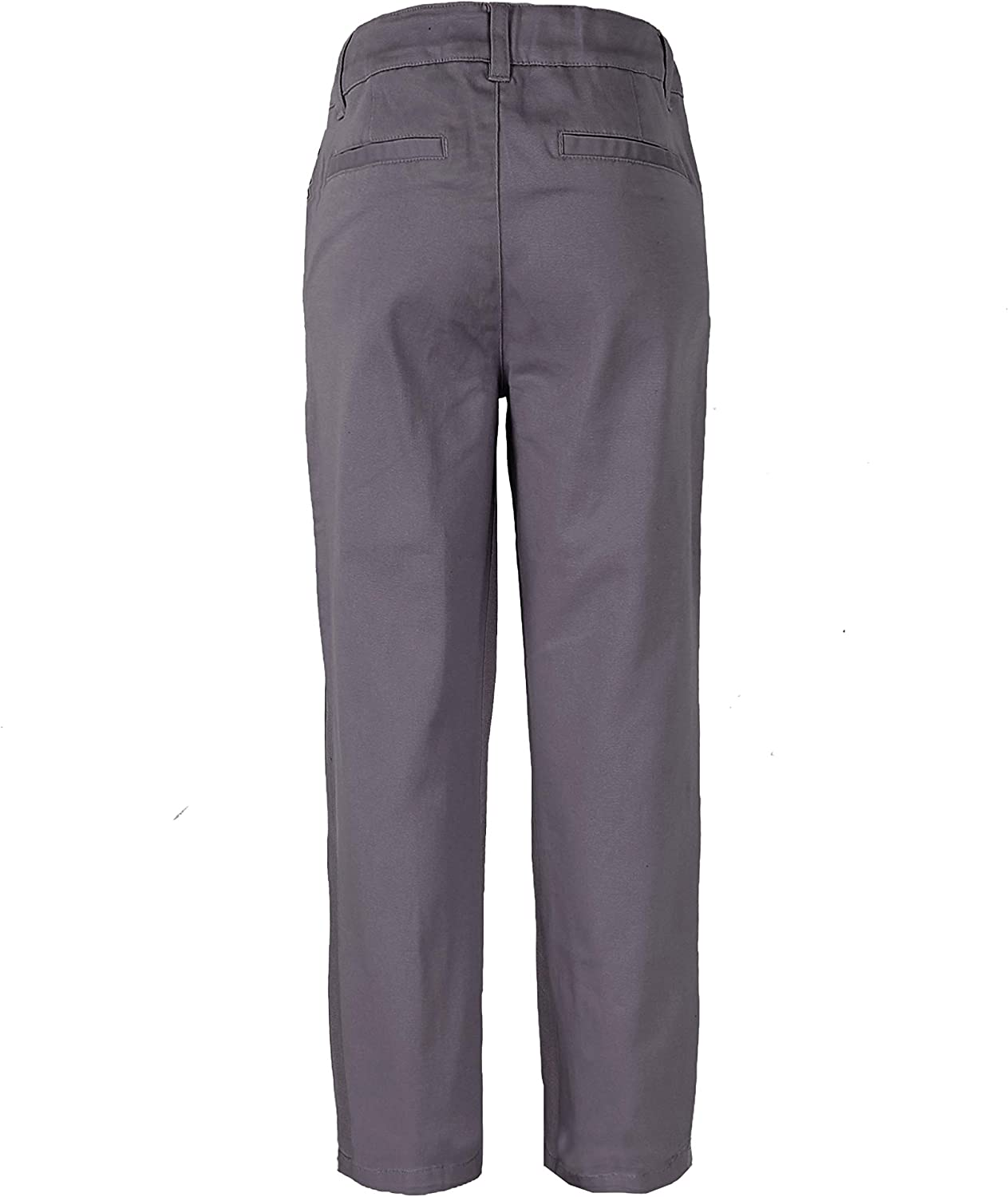 Bienzoe Girls Cotton Stretchy Slim Adjustable Waist School Uniform Pants