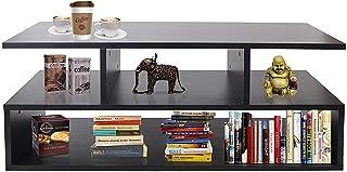 Klaxon Keelan Engineered Wood Coffee Table/Centre Table, Tea Table (Black)