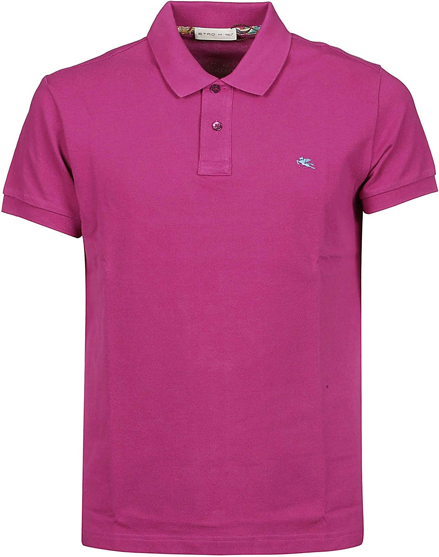 ETRO Men's 1Y1409480650 Purple Cotton Polo Shirt