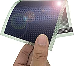 Thin Film Solar Panel Small Flexible Solar Panel Power Cells Emergency Solar Battery Charger 1W/1.5V/670MA flexible small Solar Chargers for Electronic Devices (Greed)
