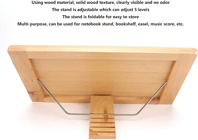 Lesest/änder Mehrzweck sichtbar f/ür B/ücherregal Staffelei Music Score verstellbares Tablet-Rack f/ür die Lesest/ütze faltbares Specification 1