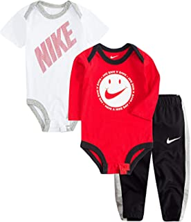 3ff347593 Nike Jordan Infant Newborn Baby 2 Bodysuits and 1 Pants 3 Pieces Layette Set