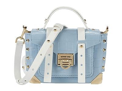 MICHAEL Michael Kors Manhattan Extra Small Top-Handle Crossbody (Pale Blue Multi) Handbags