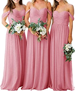Cdress Long Bridesmaid Dresses Chiffon Sweetheart Prom Party Dress Wedding Evening Formal Gowns