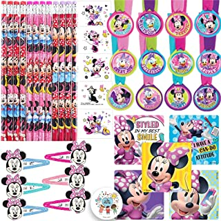The Ultimate Minnie Mouse Happy Helpers Goodie Bag Filler and Birthday Party Favor Pack For 12 Guests With Minnie Pencils,...