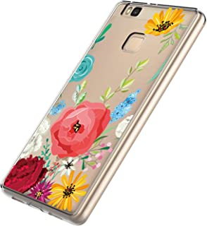 HMTECH Huawei P9 Lite Mini H/ülle,F/ür Huawei P9 Lite Mini Handyh/ülle Pr/ägung Mandala-Blume Flip Case PU Leder Magnet Schutzh/ülle Handytasche f/ür Huawei P9 Lite Mini,LD Mandala Gray