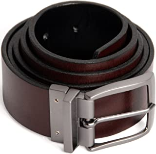Reversible Men's Belt - Genuine Full Grain Leather Belts for Men