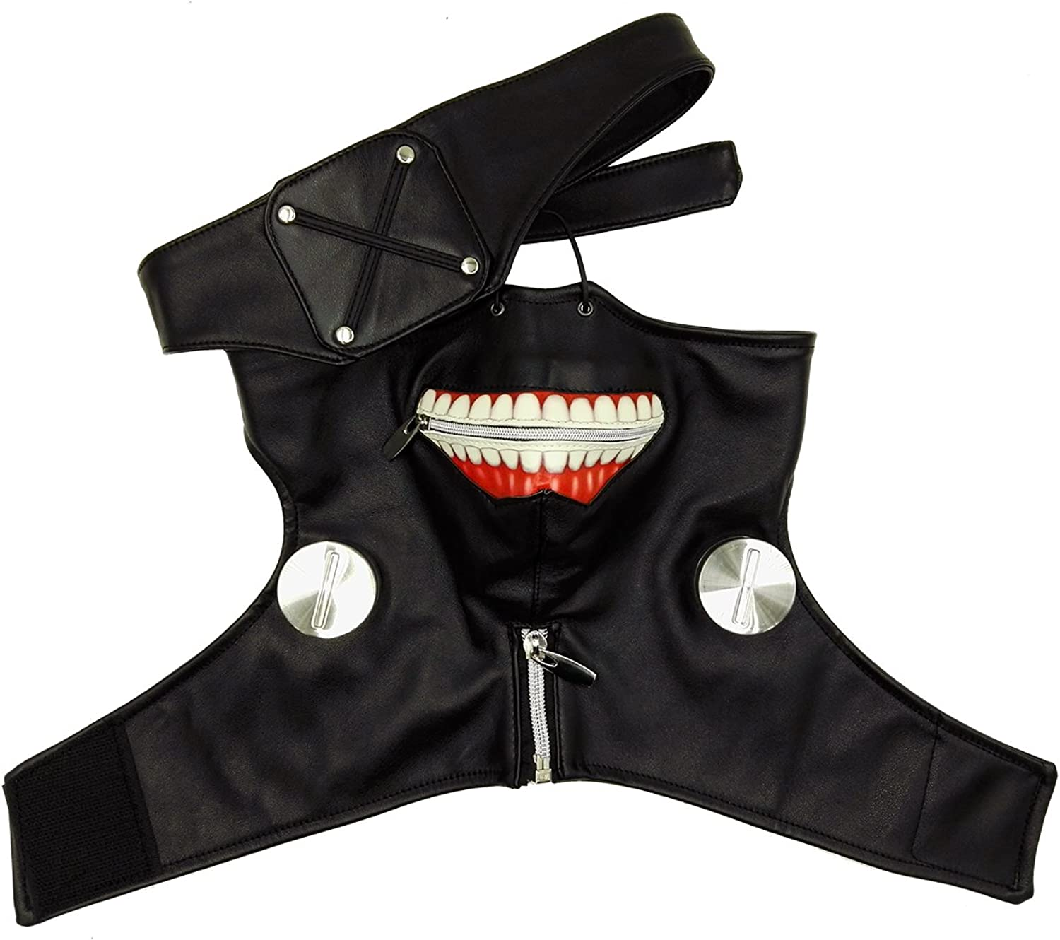 Another Me Tokyo Ghoul Season 1 Black Zipper Mask Party Cosplay Prop High Quality